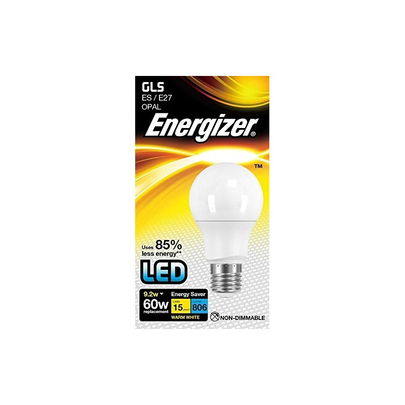 energizer led 60w es e27 globe gls warm white energy saving light bulb. Black Bedroom Furniture Sets. Home Design Ideas