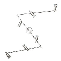 Powersave Indoor 6 Head Folding Chrome Ceiling Light Fitting with GU10 Spot Light Fittings