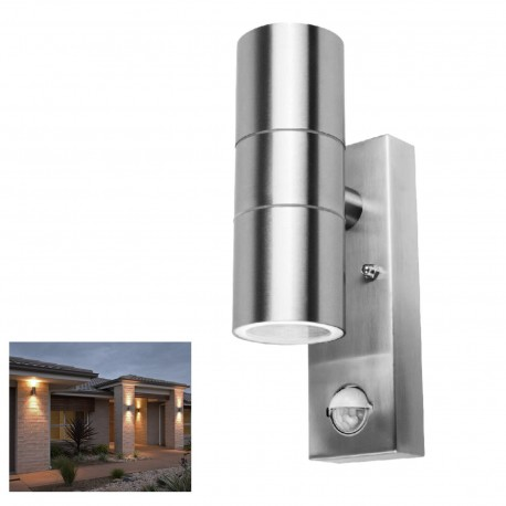 Powermaster up down wall light with pir motion sensor powermaster outdoor up down light with pir motion sensor aloadofball Image collections